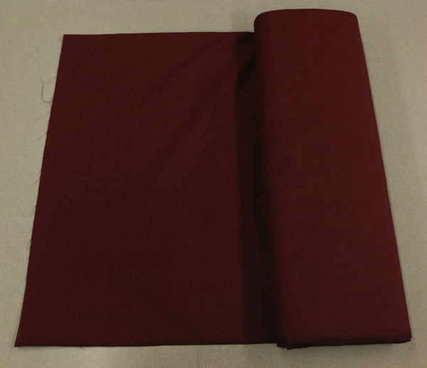 Broadcloth (Polycotton) Fabric - Burgandy