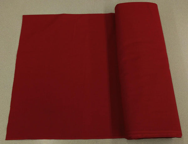 Broadcloth (Polycotton) Fabric - Garnet Red