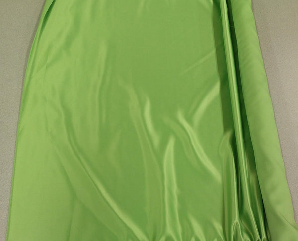 Satin Fabric (Crepe Back) - Lime Green