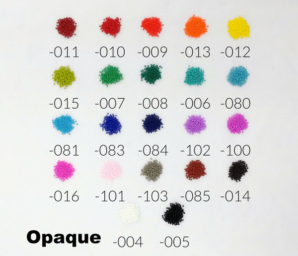10/0 seed bead color chart