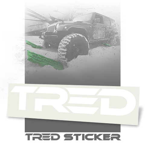 TRED Logo Sticker Small - White