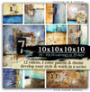 Ten 10x10 canvases in 10 days (MIXED-MEDIA) - Donna Downey Studios Inc