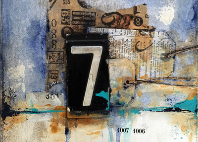 Ten 10x10 canvases in 10 days (MIXED-MEDIA)