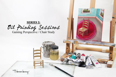 Oil Painting Sessions - Series 2 - Gaining Perspective / Chair Study | Online Workshop - Donna Downey Studios Inc