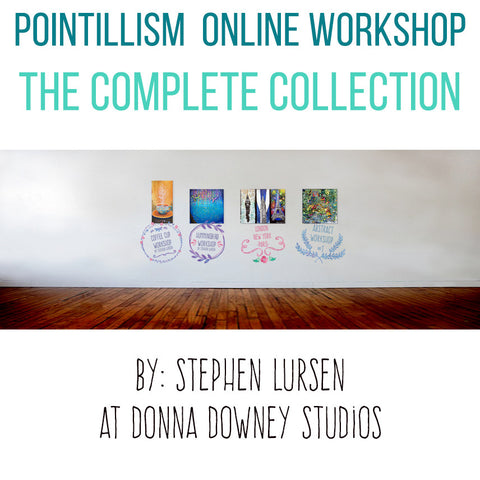 Pointillism Online Workshop! The Complete Collection by Stephen Lursen - Donna Downey Studios Inc - 1
