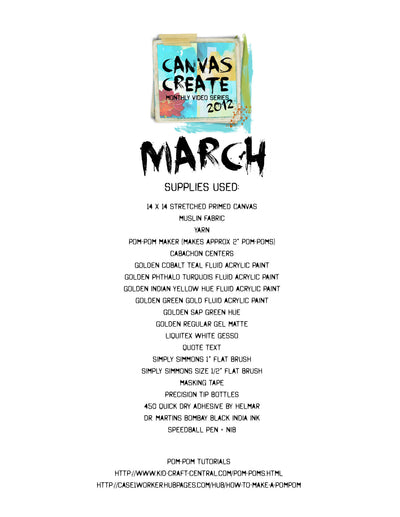 March Canvas Create Video - Donna Downey Studios Inc