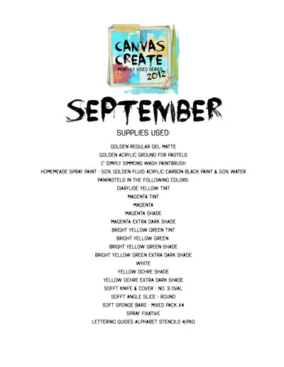 September Canvas Create Video - Donna Downey Studios Inc
