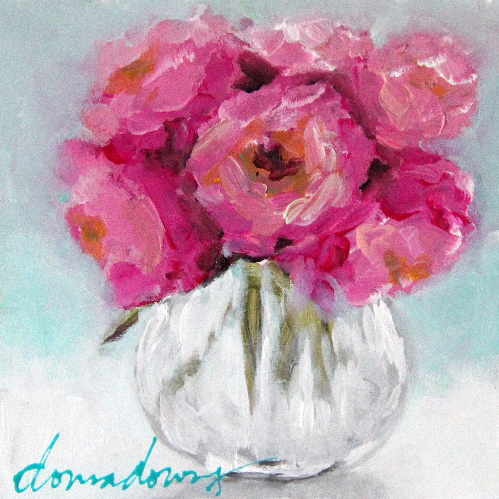 Abstract Florals Acrylic Online Workshop