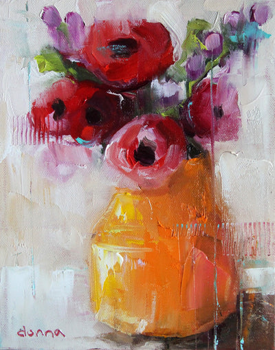 Distressed Flowers (OIL or ACRYLIC) | Online Workshop