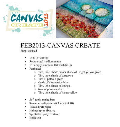 February 2013 Canvas Create Video - Donna Downey Studios Inc