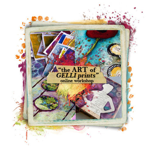 """the ART of GELLI prints"" online workshop - Donna Downey Studios Inc"