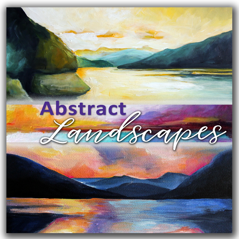 "ONLINE WORKSHOP | ""Abstract Landscapes"" WINTER SESSION - Donna Downey Studios Inc - 2"