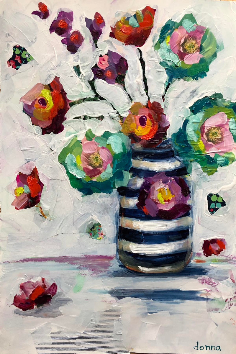 Mixed-Media Florals | Online Workshop - Donna Downey Studios Inc