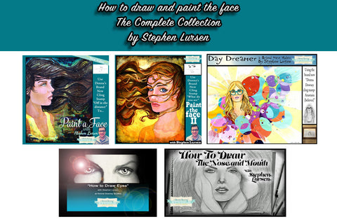 How To Draw and Paint the Face! The complete collection by Stephen Lursen - Donna Downey Studios Inc - 1
