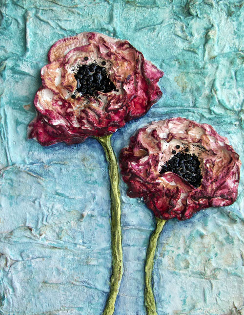 """Sculpted Poppy"" Online Workshop - Donna Downey Studios Inc"