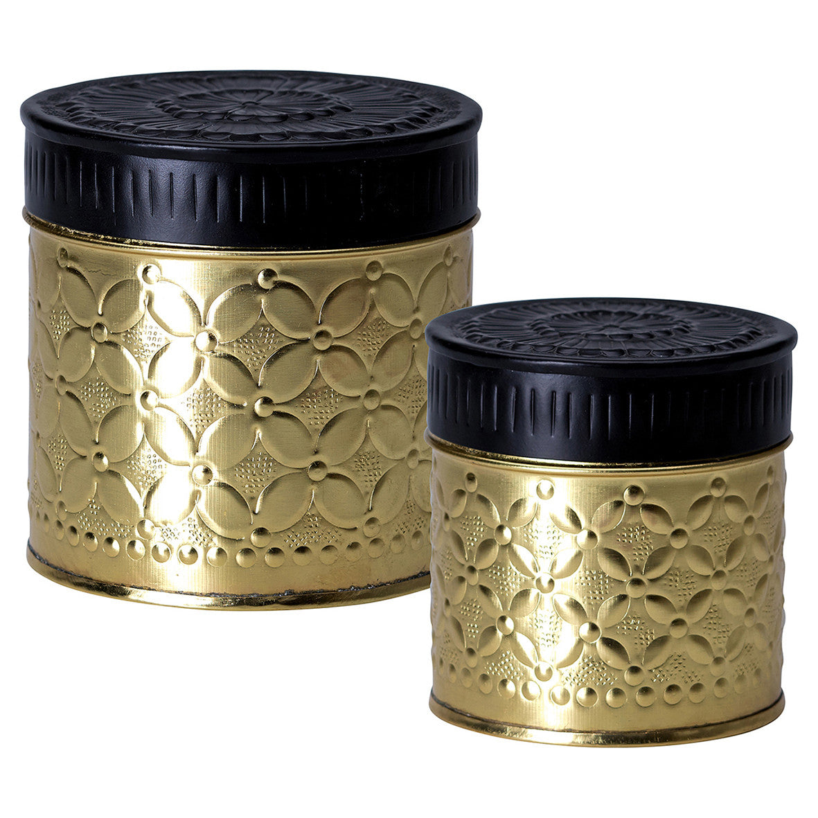 Gold Canister Set of 2