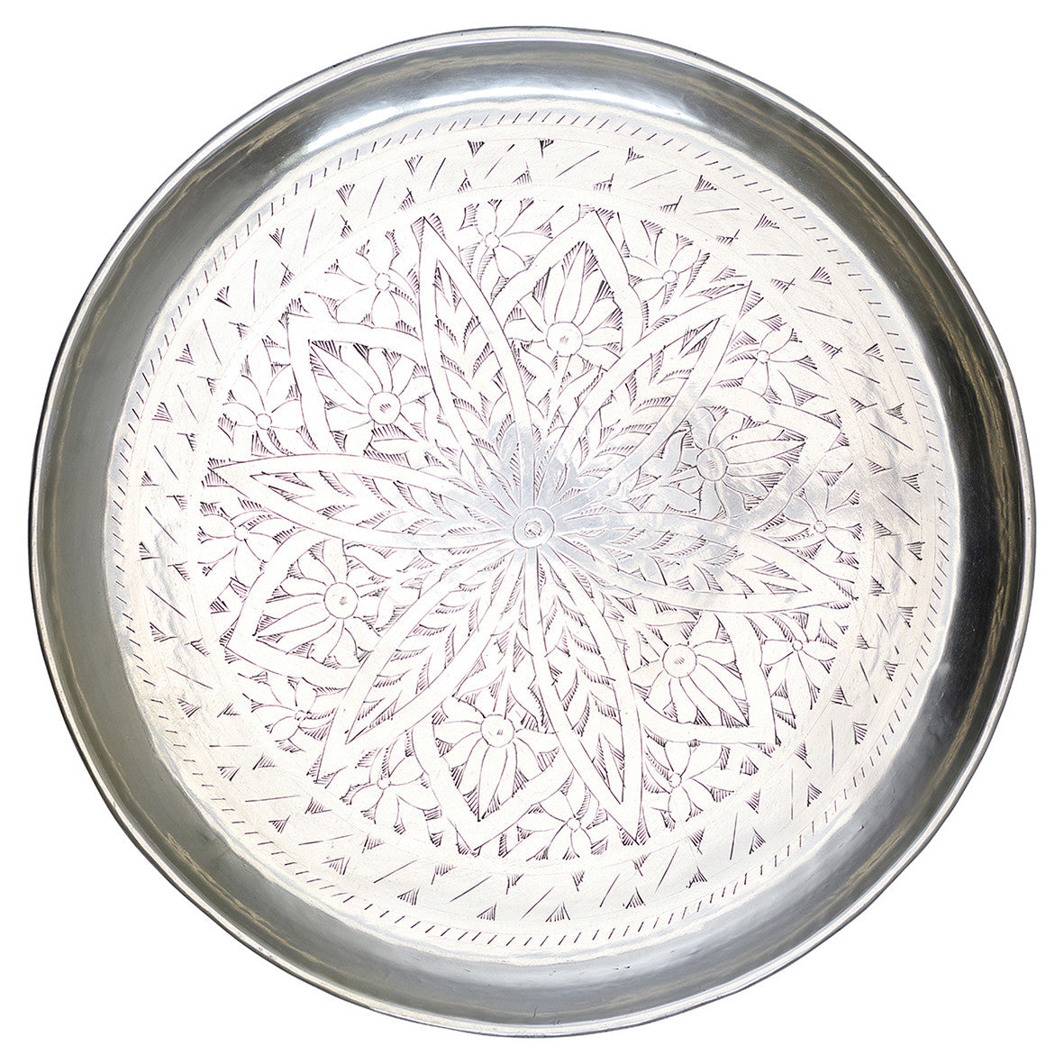 Tray with Moroccan engraved design 50cm