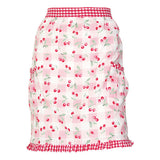 Half Apron Cherry pale pink with Frill