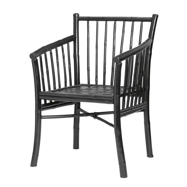 Bamboo Dining Chair - Black