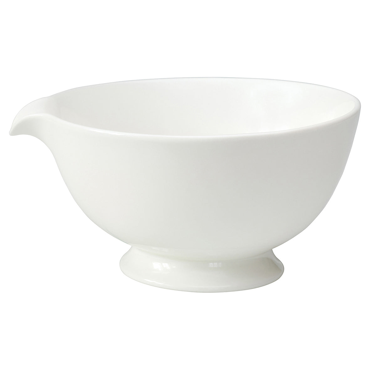 Ceramic Mixing Bowl Large Thea - White