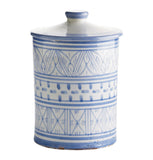 Hand Painted Moroccan Spice Jar Large