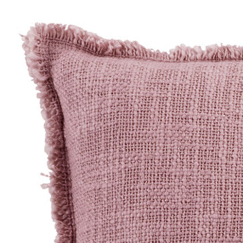 Cotton Linen Blend Cushion Cover with Fringed edge
