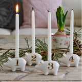 Advent Candle holders - 4 Little Pigs