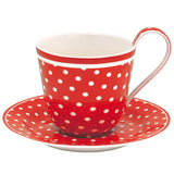 Greengate Teacup - Red Spot
