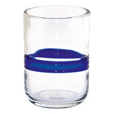 Water Glass with Stripe Blue Set of 6