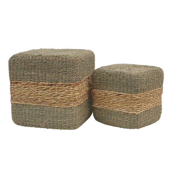 Cube Footstool - Seagrass
