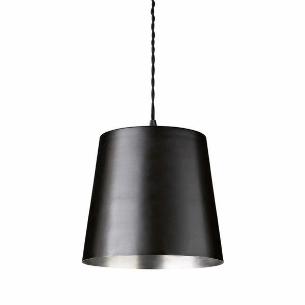 Pendant in solid brass, D23xH20, black/silver Ex. Display