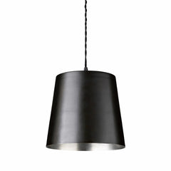 Pendant in solid brass, D23xH20, black/tin Ex. Display
