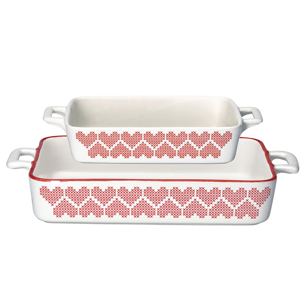 Baking Dishes Set of 2 Micha Red