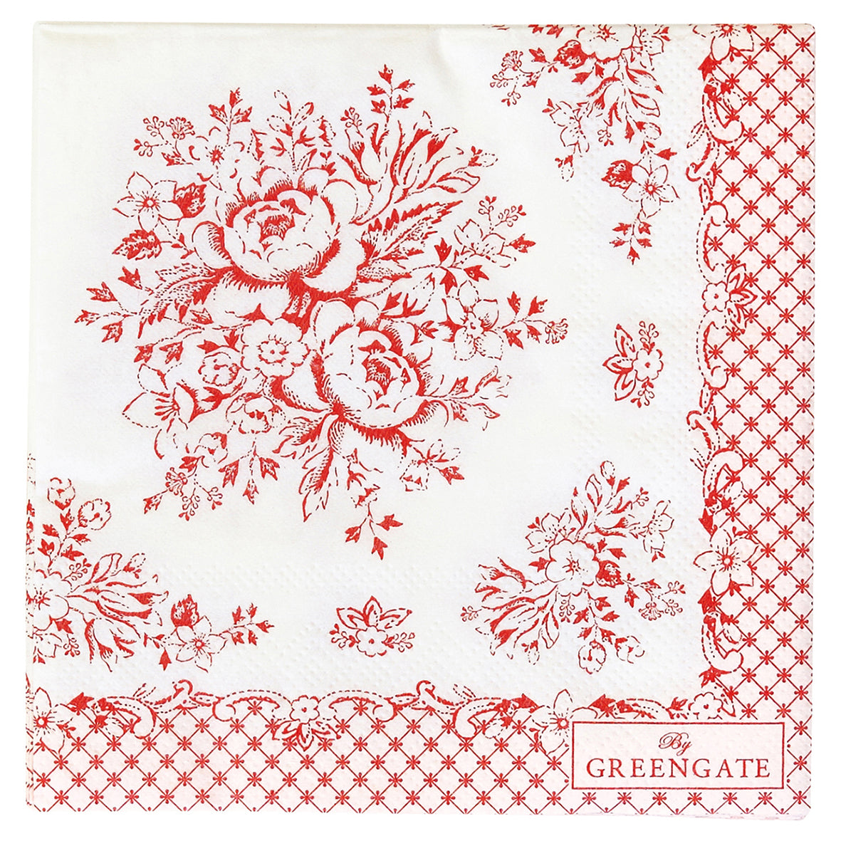 Paper Napkins - Stephanie Red Small 20cm