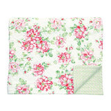 Greengate Quilt Maria white.  Reverse: Mimi green. 140 x 220