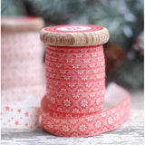 Ribbon on Vintage Spool - Bianca Red 15mm x 5m