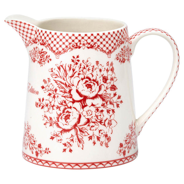 Greengate Jug .5 Lt.  Stephanie Red
