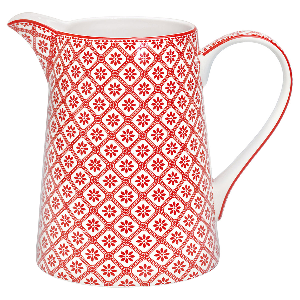 Greengate Jug 1Lt. Bianca Red