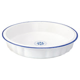 Pie Dish with Blue Rim
