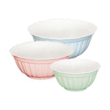 Alice Pastel Mixing Bowls Set of 3