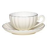 Greengate - Cup and Saucer - Creme