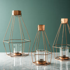 Hanging Wire Lantern - Copper