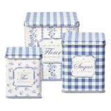 Audrey Storage Tin Blue Set of 3