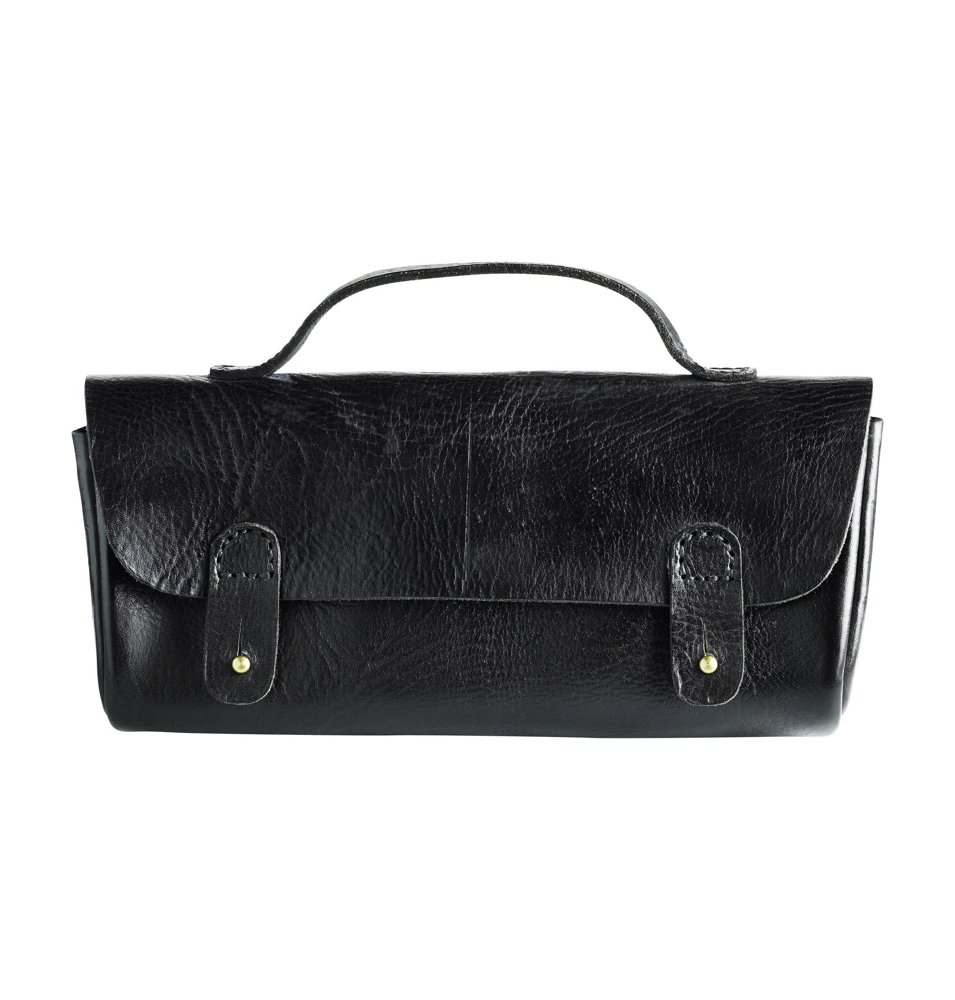 Small leather hand bag - Black