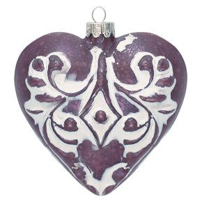 Christmas heart - Antique Mauve Pack of 6