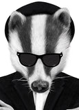 Blues Badger By Sanna Wieslander