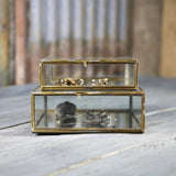 Kitte Brass and Glass box with Hinged Lid