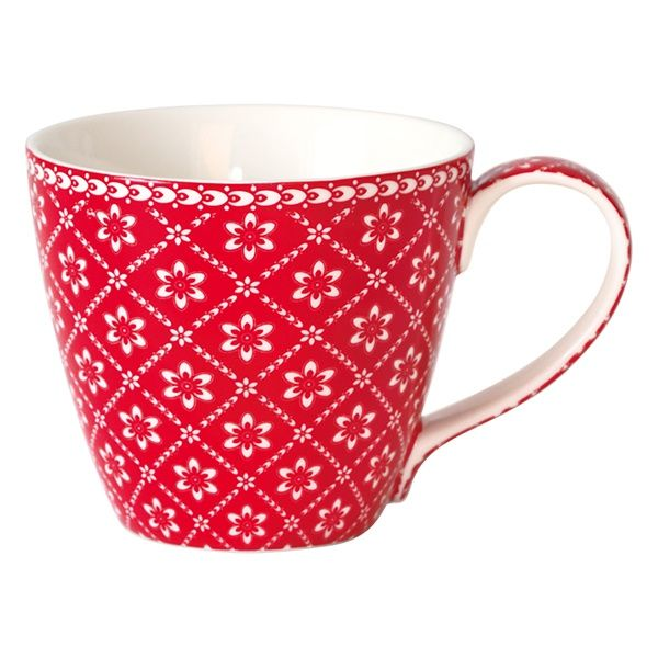 Greengate Mug Alba Red