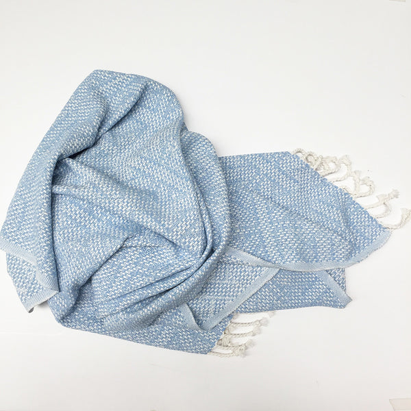 Juliana Cotton Jacquard Throw 150x200cm - Blue