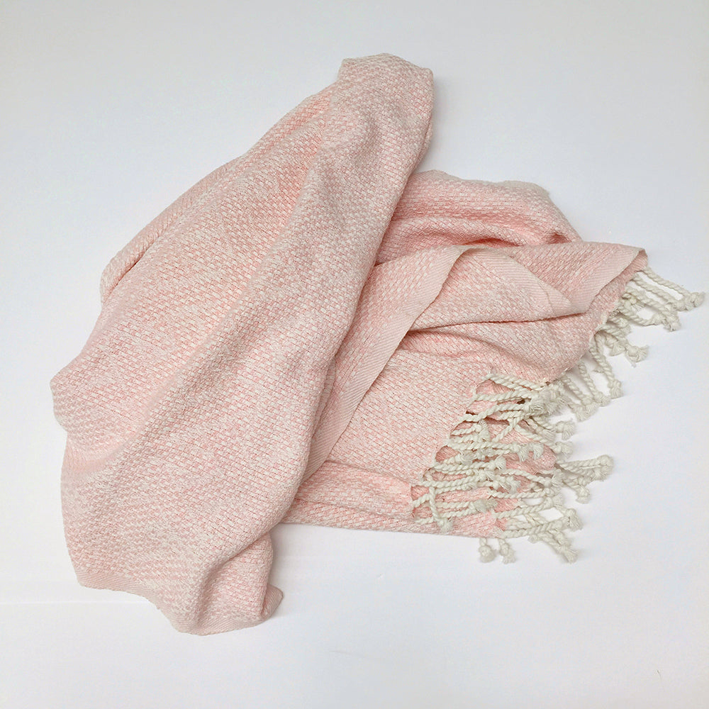 Juliana Cotton Jacquard Throw 150x200cm - Rose